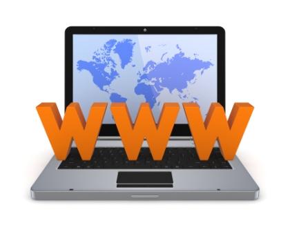 En dator med www